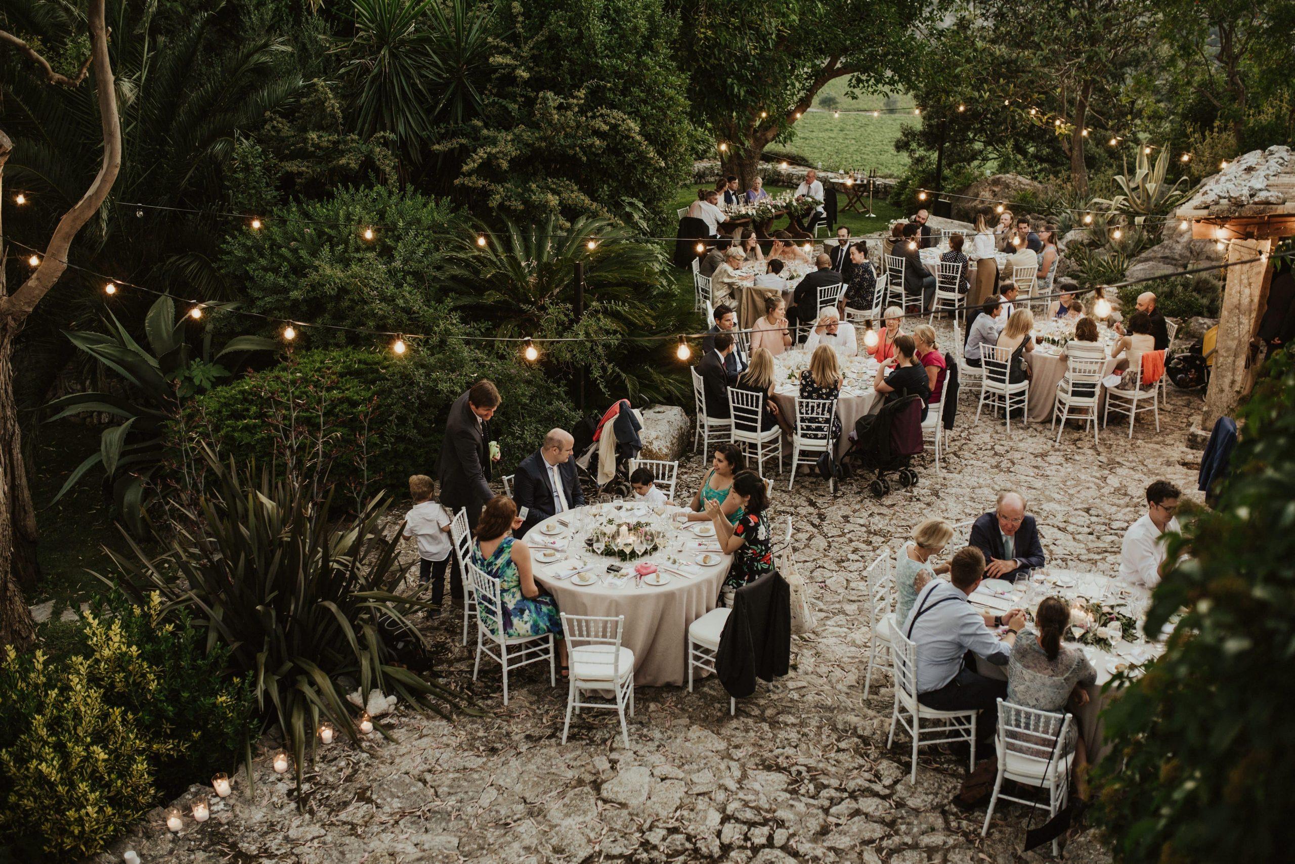 Mesas de bodas en Mallorca