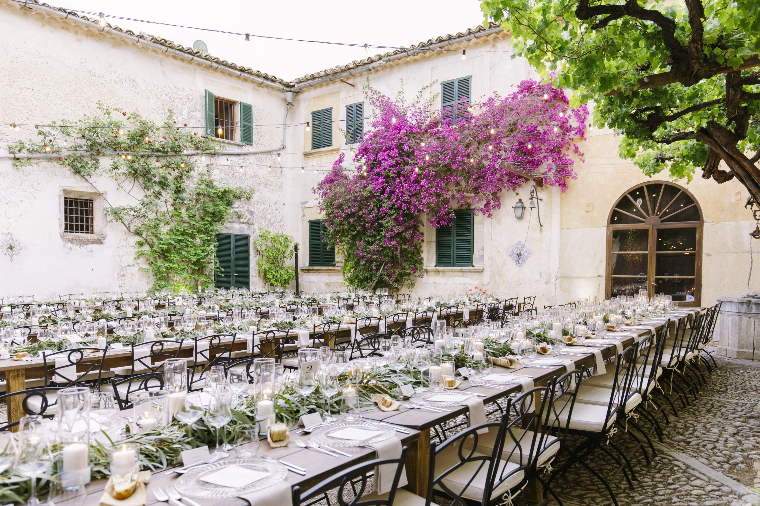 Wedding table setting Majorca