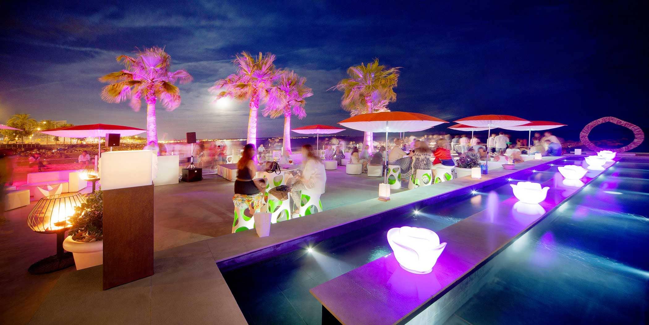 Anima Beach Club wedding destination by the sea of Palma de Mallorca