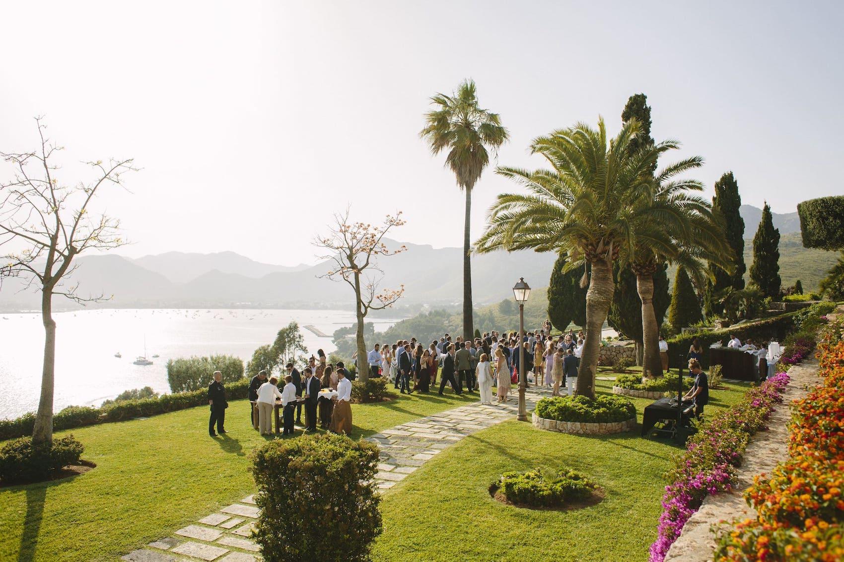 spectacular exclusive luxurious wedding venue in Pollensa, Mallorca
