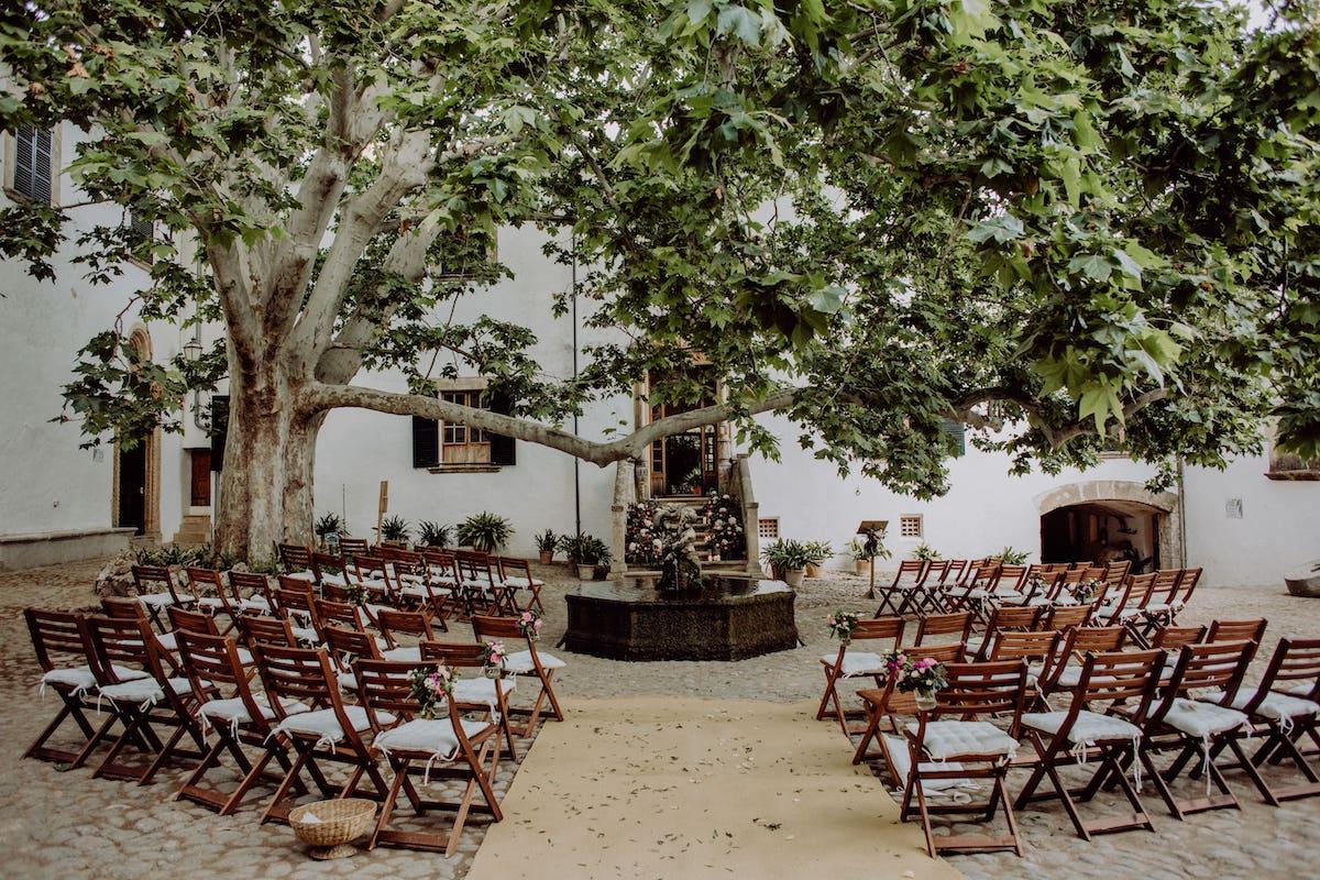 Alfabia garden wedding location in Soller Mallorca