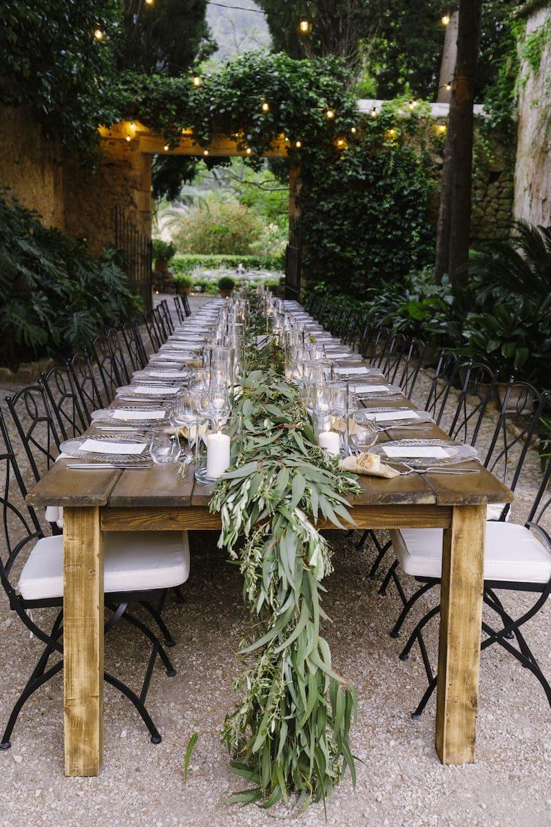 decoración rústica para boda en finca Es Fangar Mallorca