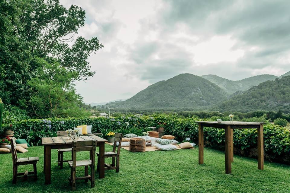 romantic wedding location in a majorcan finca