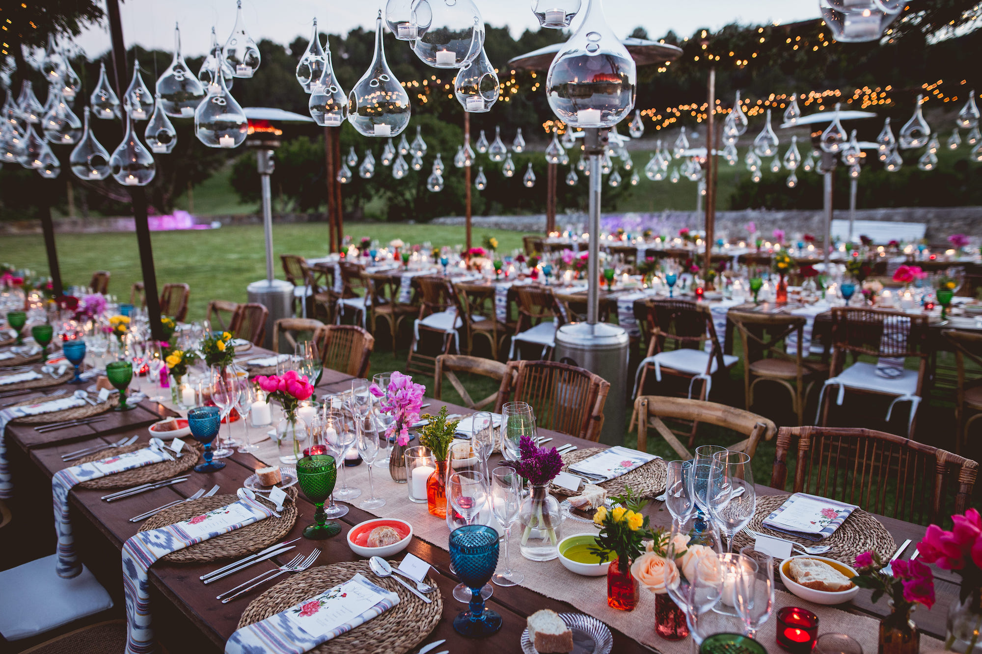 wedding ideas for setting with a romantic decoration in Mallorca