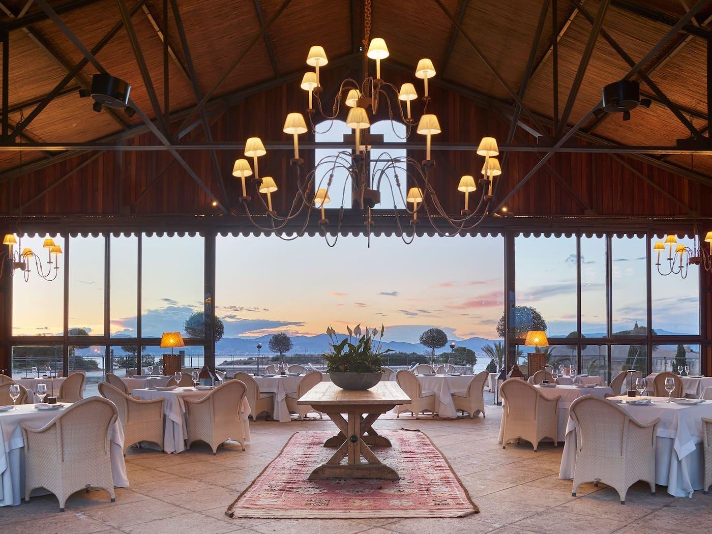 wedding restaurant with sea views at cap rocat in Palma de Mallorca
