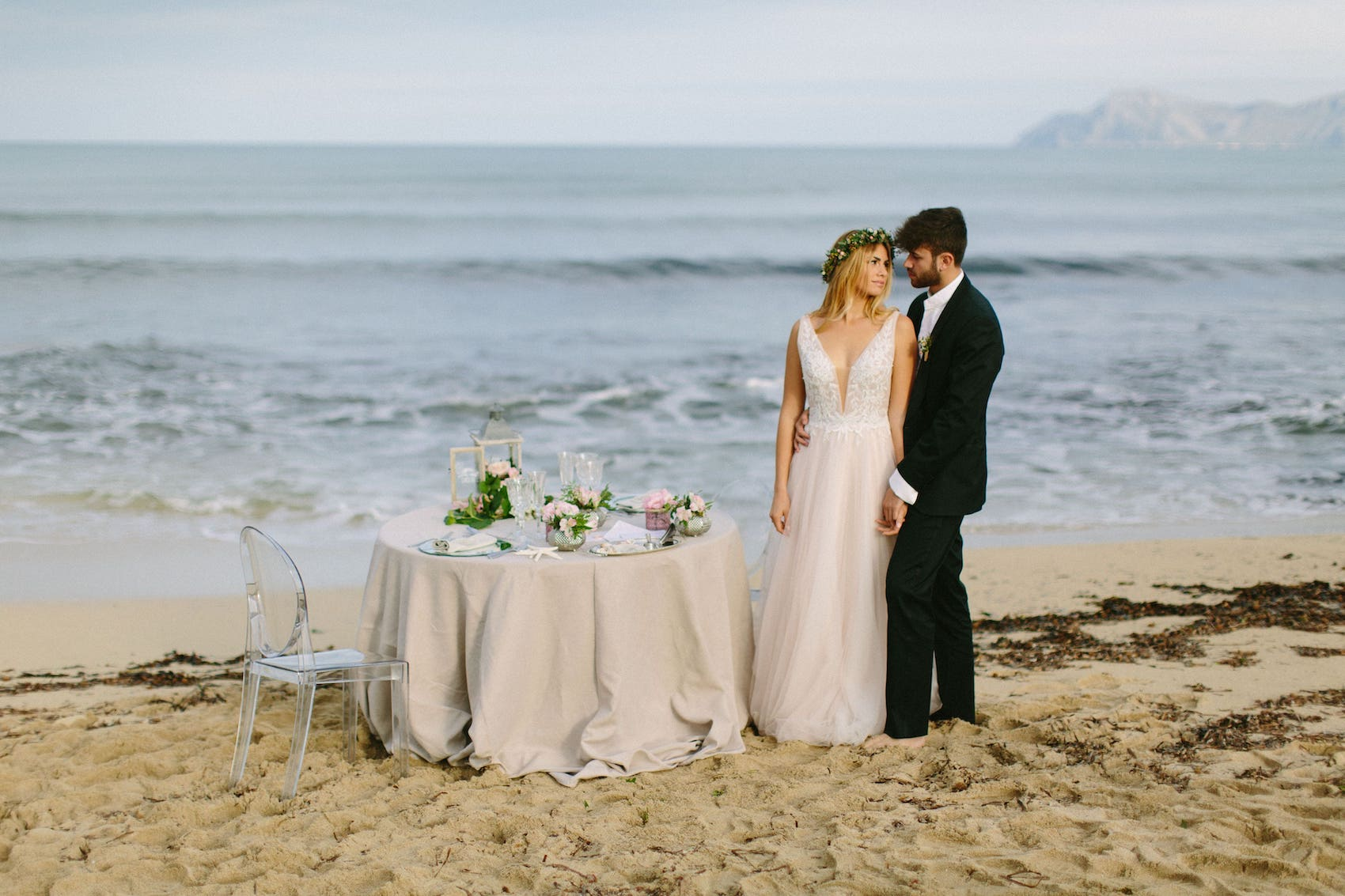 exclusive setting decoration at the beach of can picafort mallorca