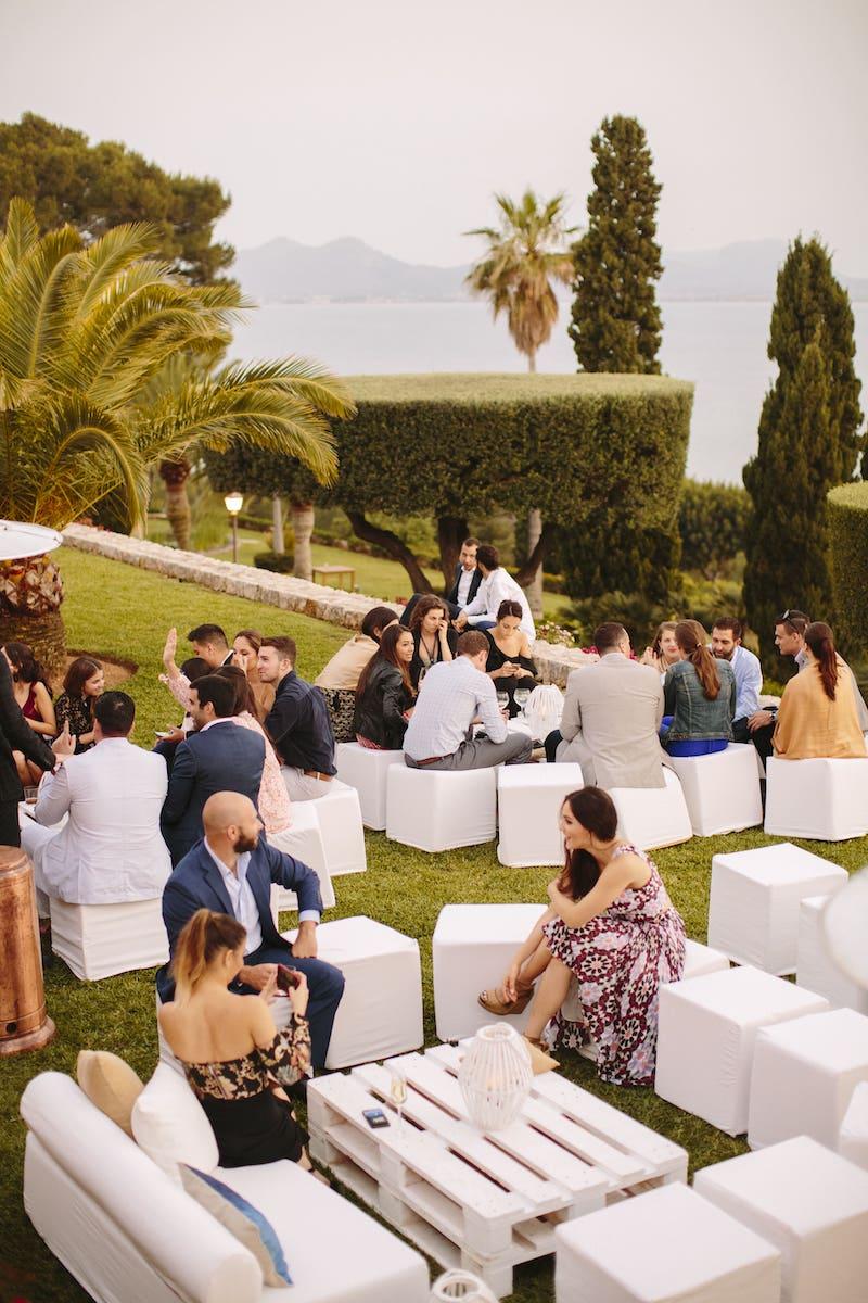 planning my wedding in a sea views location at La Fortaleza Pollensa