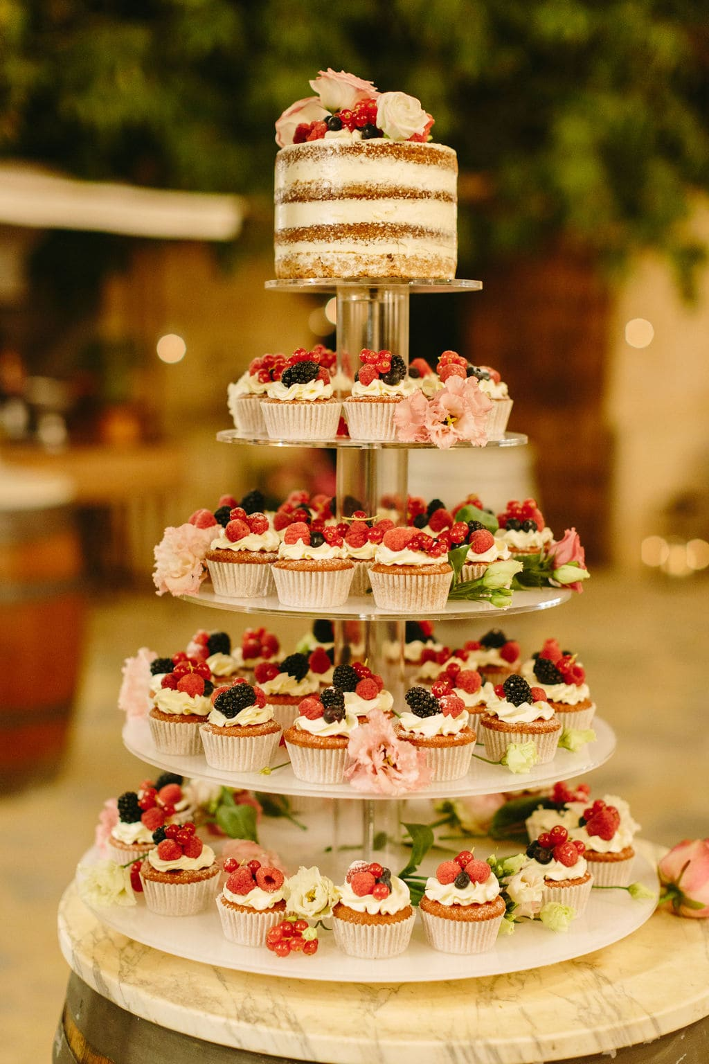 seminaked wedding cake catering Alaiar Mallorca