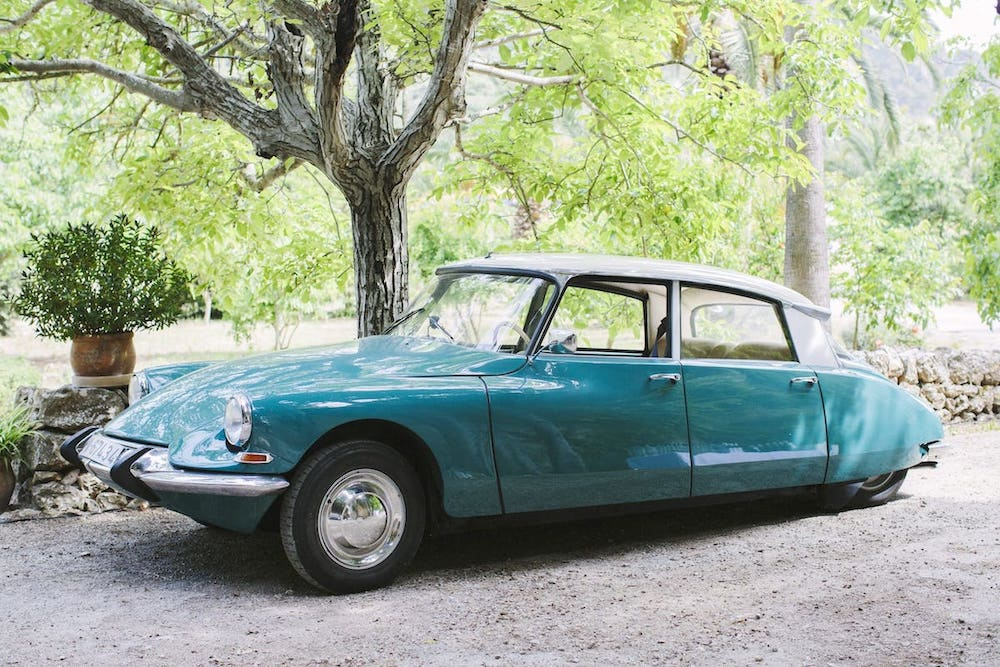 wedding bridal classic car for rent for wedding and event in Mallorca