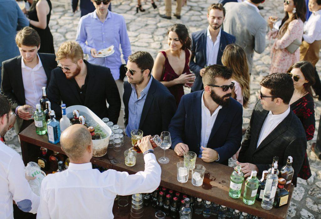 cocktail and reception in a wedding event at La Fortaleza Mallorca