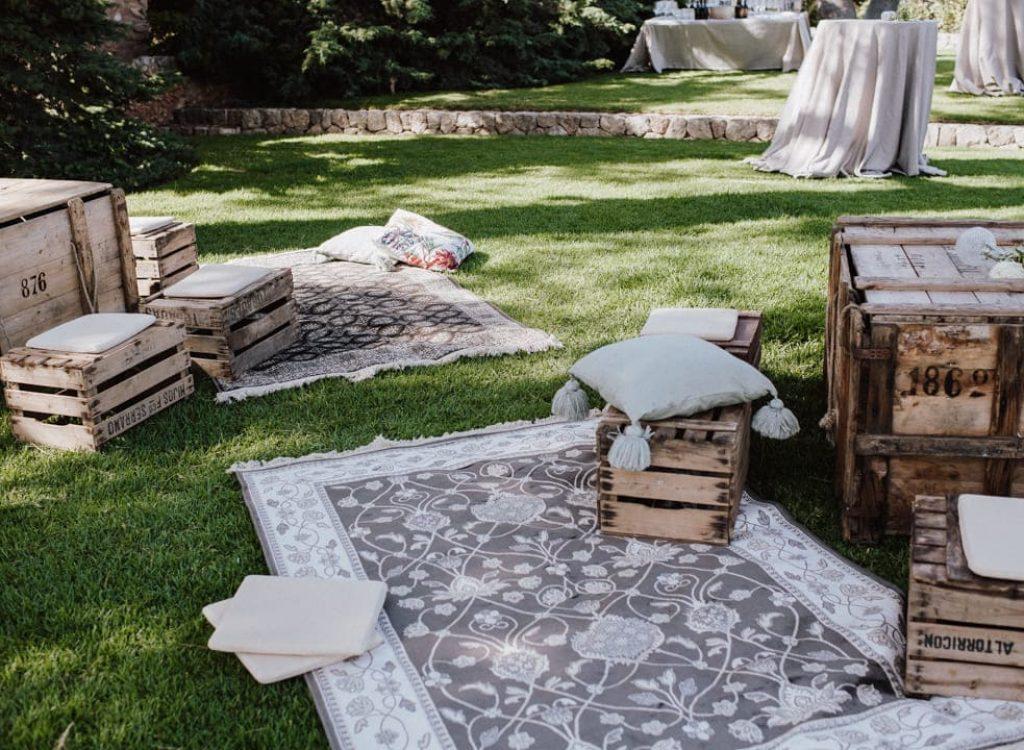 ideas de decoración para boda y evento con ambiente de chill out en Mallorca