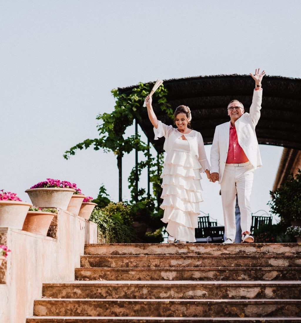 Civil ceremony in the countryside of Palma de Mallorca with mountain views