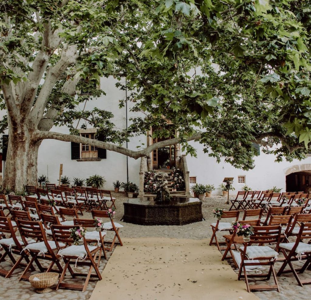 Alfabia garden wedding location in Soller Mallorca