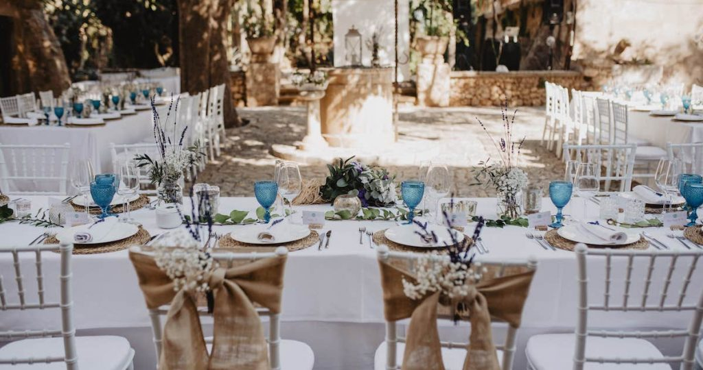 majorcan courtyard for rustic wedding in Mallorca