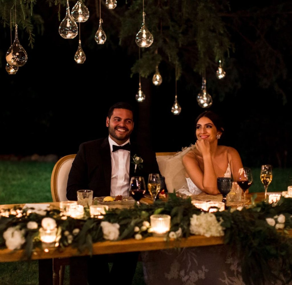 Charming Lighting with Catering for wedding in Jardines de Alfabia