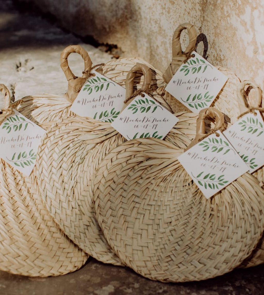 rustic fan gift for wedding ceremony in Felanitx Mallorca