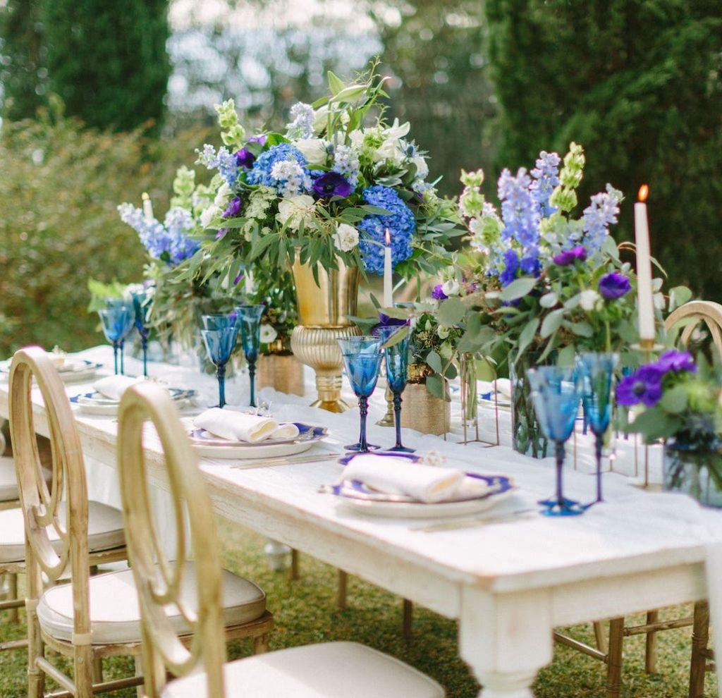 luxury wedding decoration in vineyard biniagual Mallorca