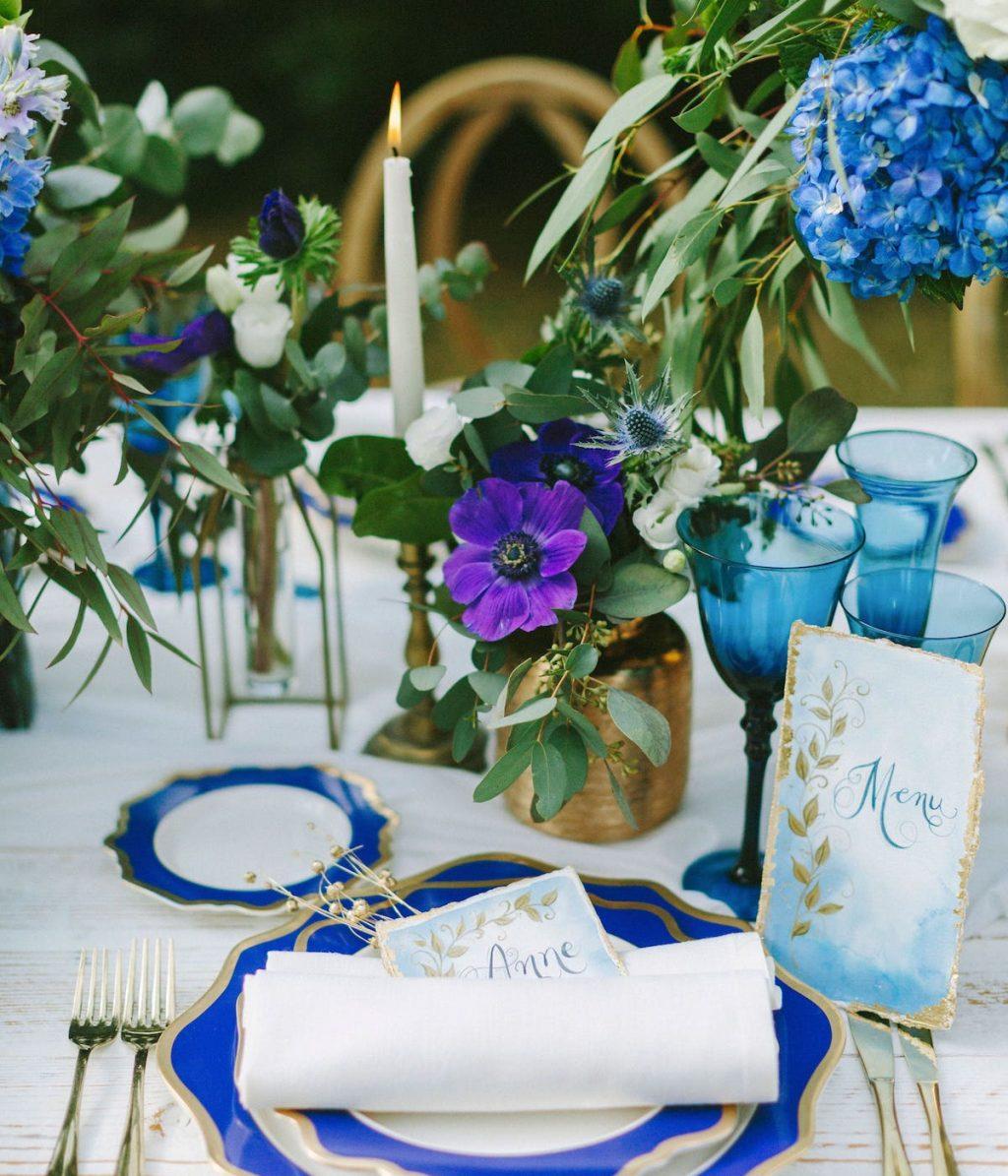 decoración para montaje de mesa de bodas en mallorca