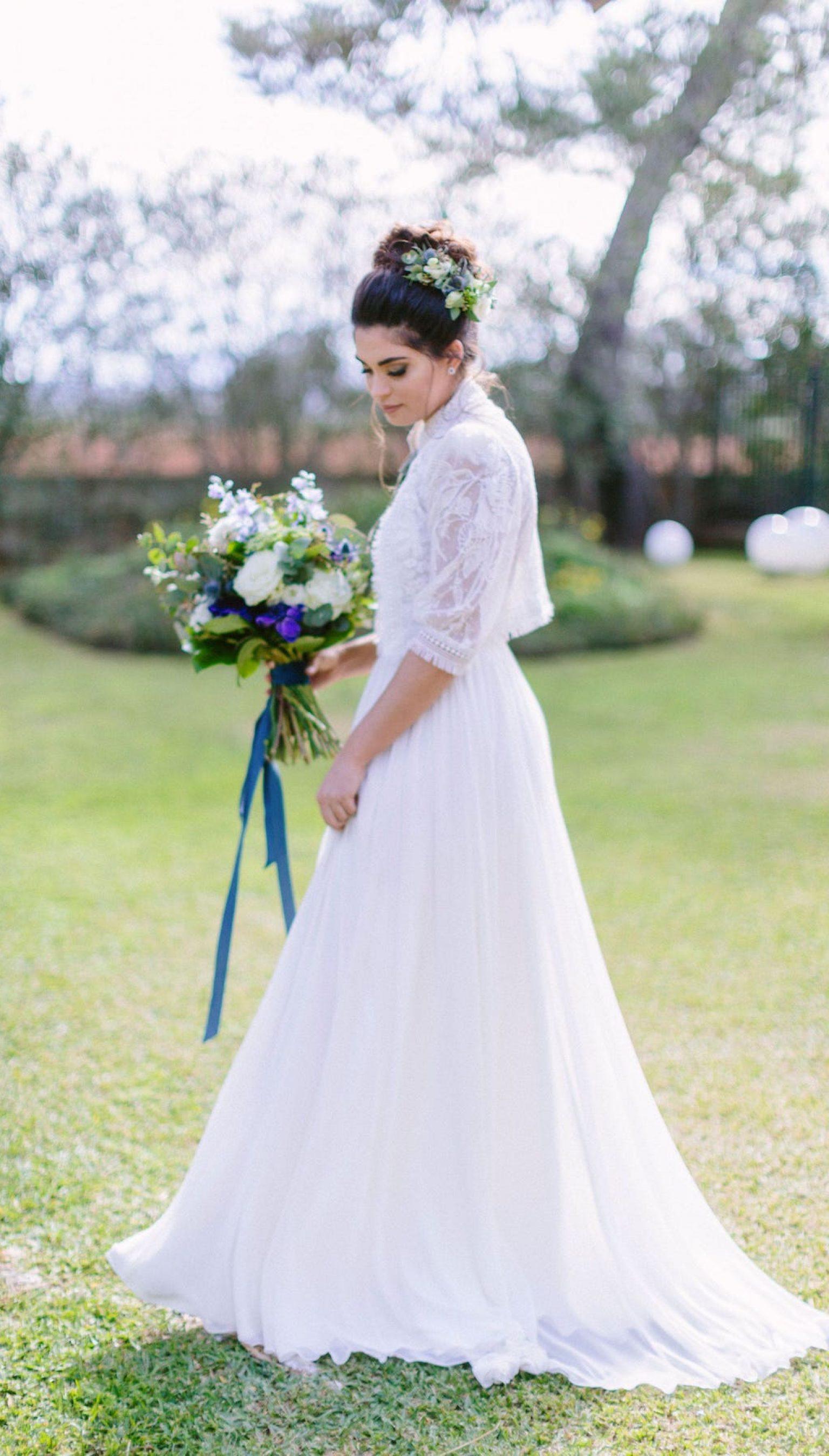 inspiración para ramos de novia y vestidos de novia para bodas románticas en Mallorca