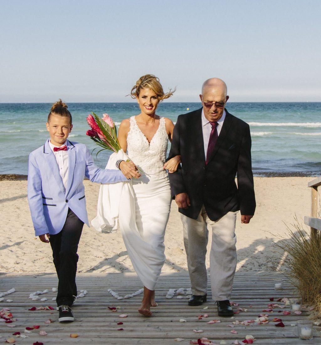 Wedding at the beach in Majorca