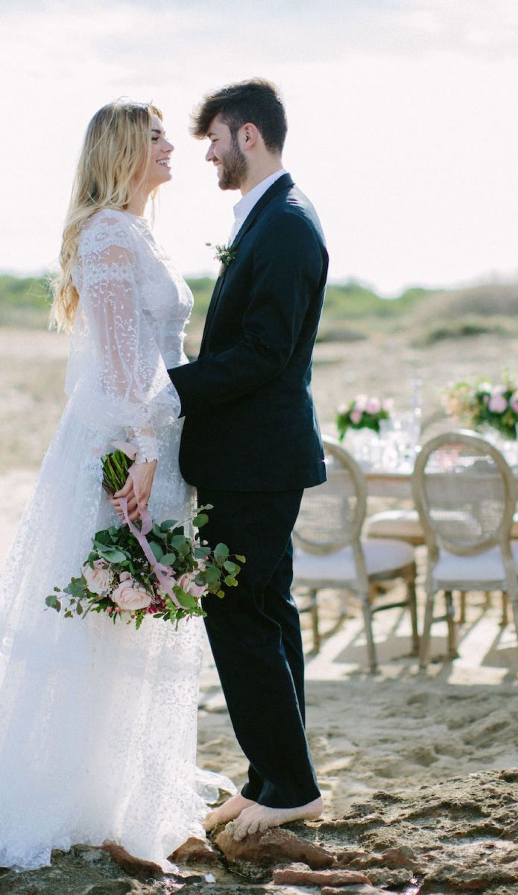 decoración de boda para casarse a orillas del mar en Can Picafort Mallorca