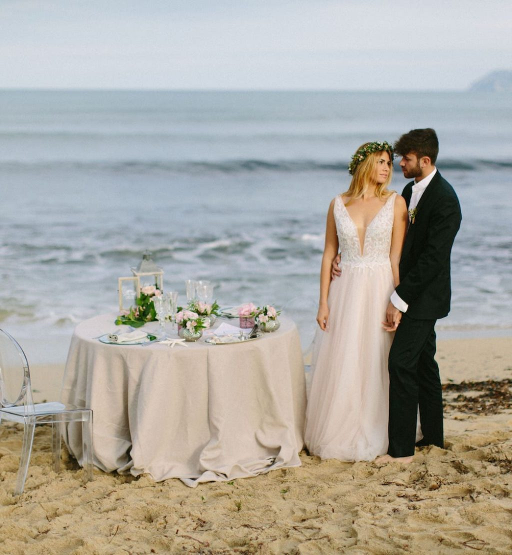 montaje exclusivo de decoración para una boda en la playa de Can Picafort Mallorca