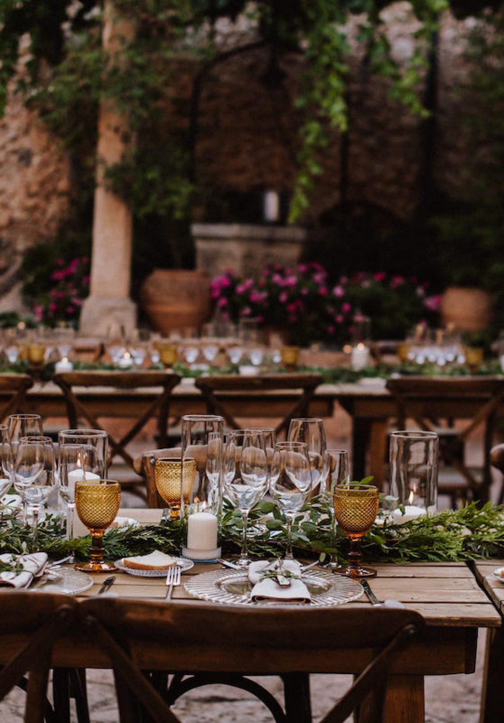 Mallorca courtyard for wedding setting in Mallorca