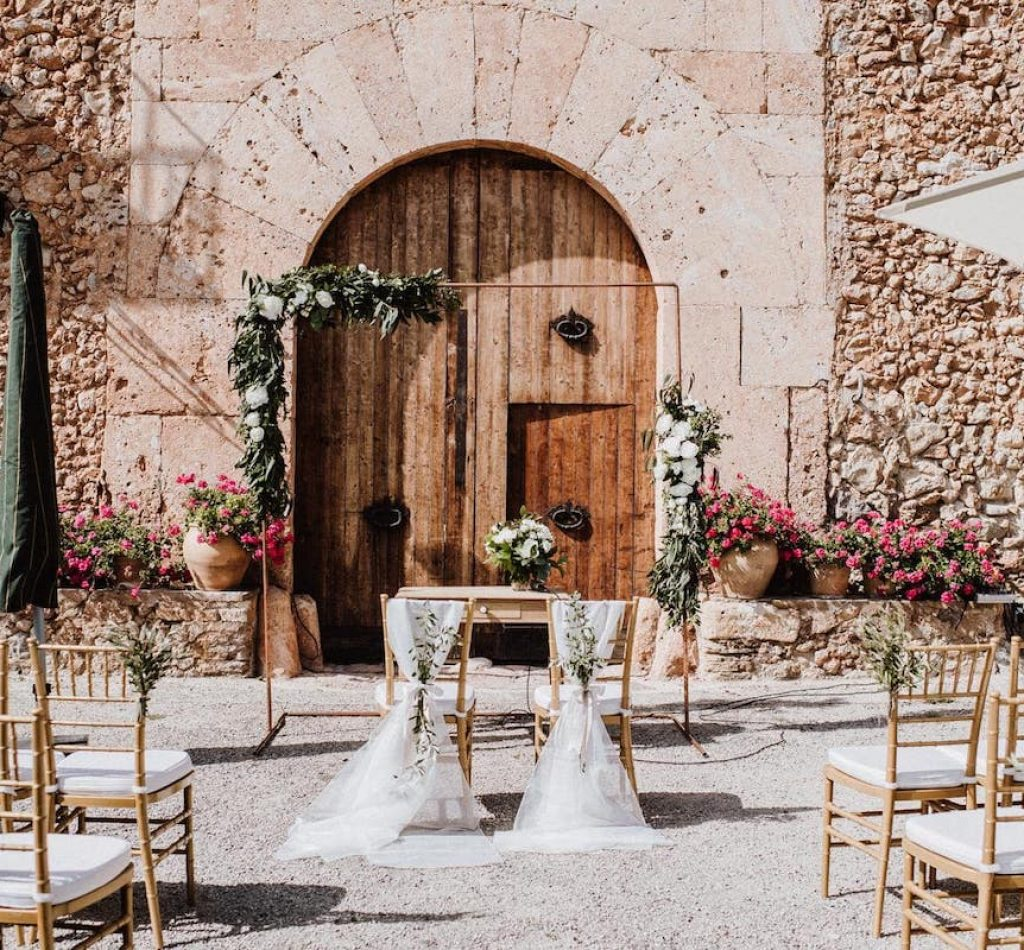 wedding ceremony setting ideas from wedding planner in Mallorca