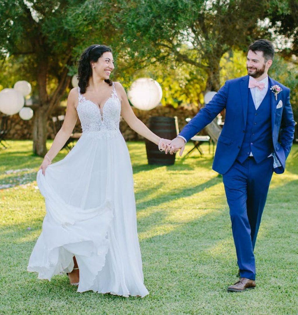 boda de ambiente relajado en la finca rústica alaiar Mallorca
