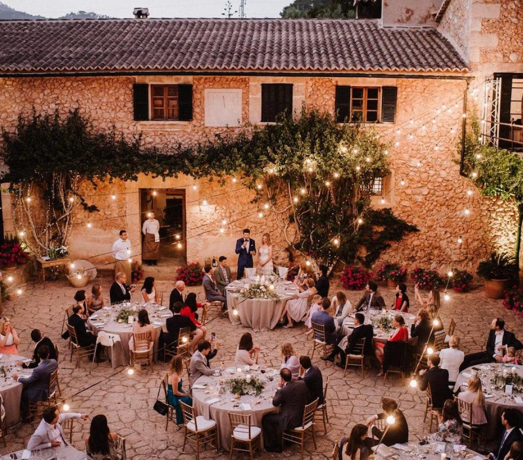 charming courtyard wedding venue in farm es cabas Mallorca